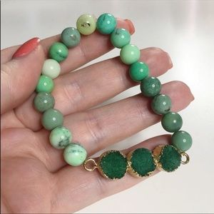 Raw Gemstone Beaded Bracelet